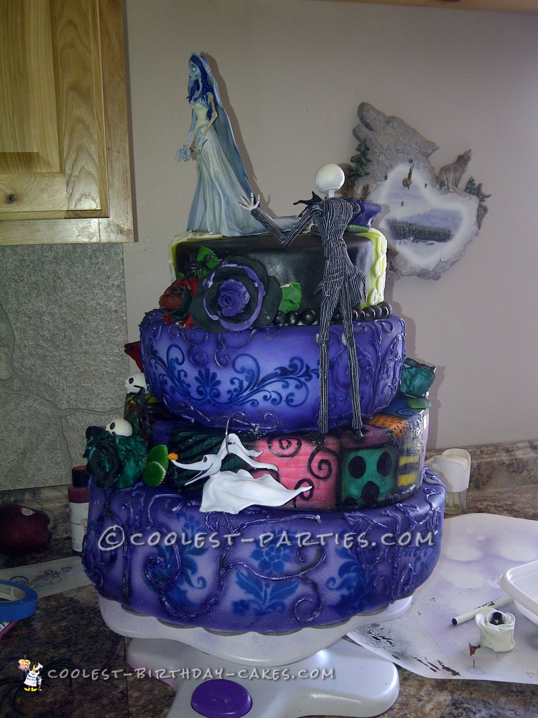 nightmare before christmas wedding cake ideas coolest nightmare before wedding cake 17891