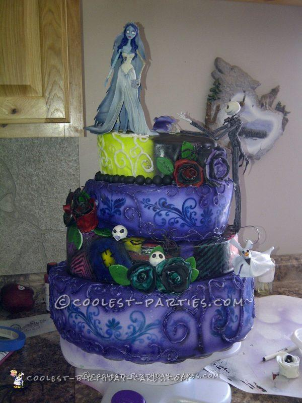 Coolest Nightmare Before Christmas Wedding Cake