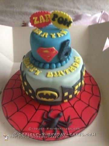 Coolest Superhero Cake for a 6 Year Old