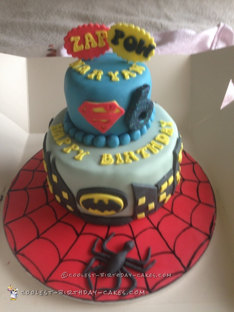 A Friend Of Mine Asked Me If I Could Do Super Hero Cake For Hers Son Who Was To Become 6 Years Old Well Love Challenge