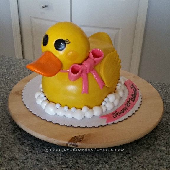 Admirable Coolest Homemade Rubber Ducky Cakes Funny Birthday Cards Online Inifofree Goldxyz