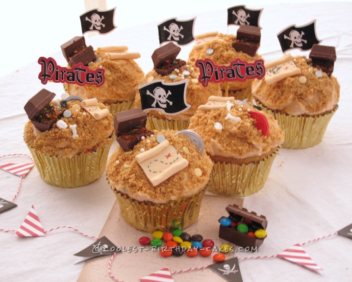 Cool Pirate Treasure Cupcakes