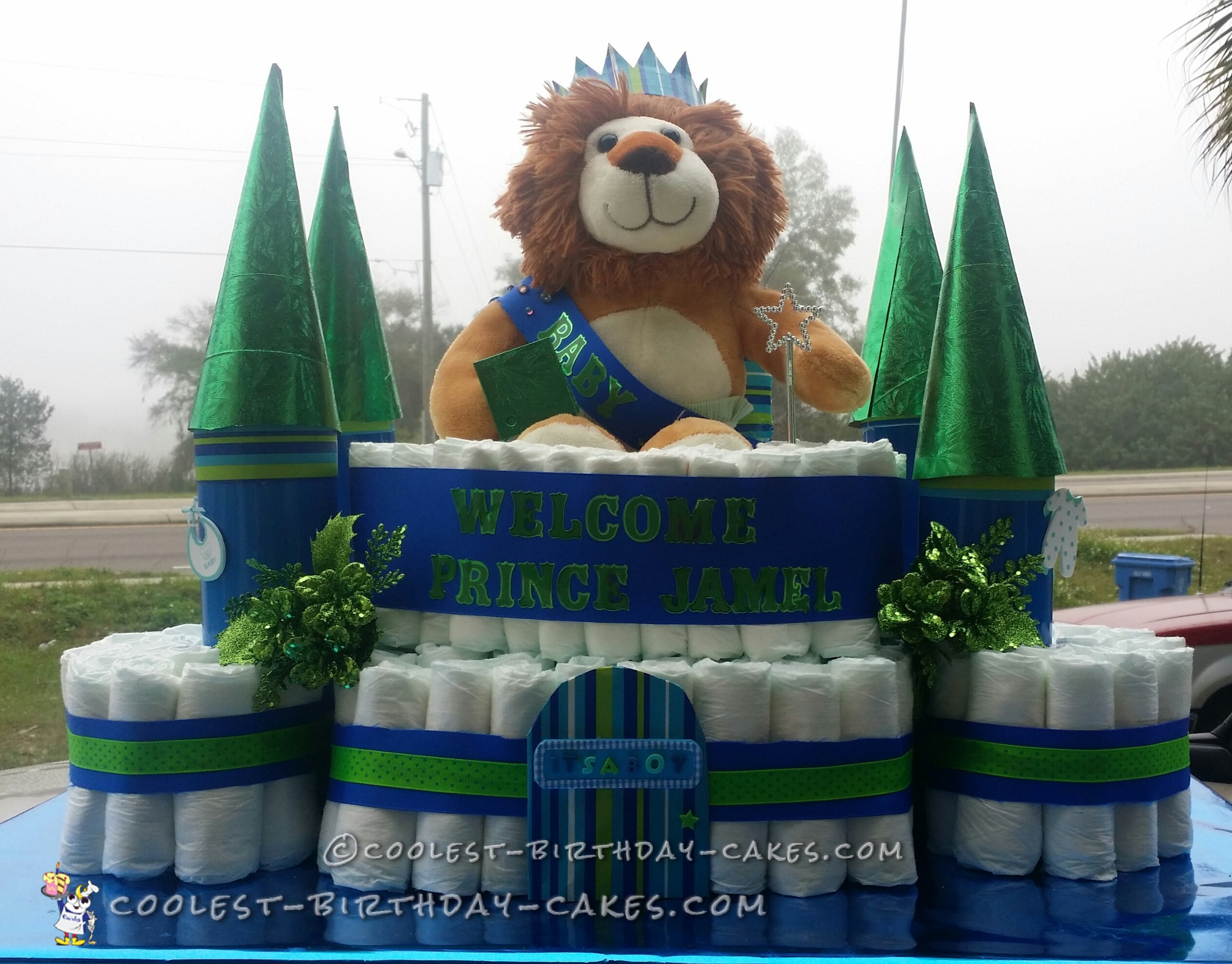 Prince of the Castle Diaper Cake