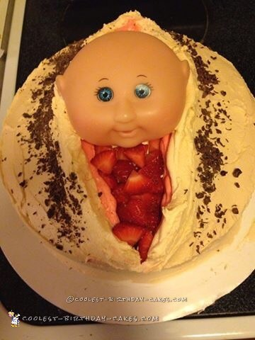 Funny Birth Delivery Baby Shower Cake