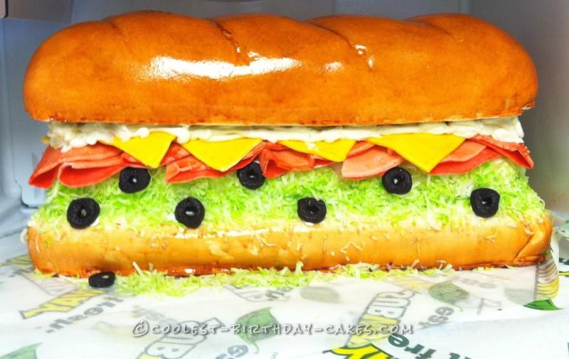 Giant Subway Sandwich Cake