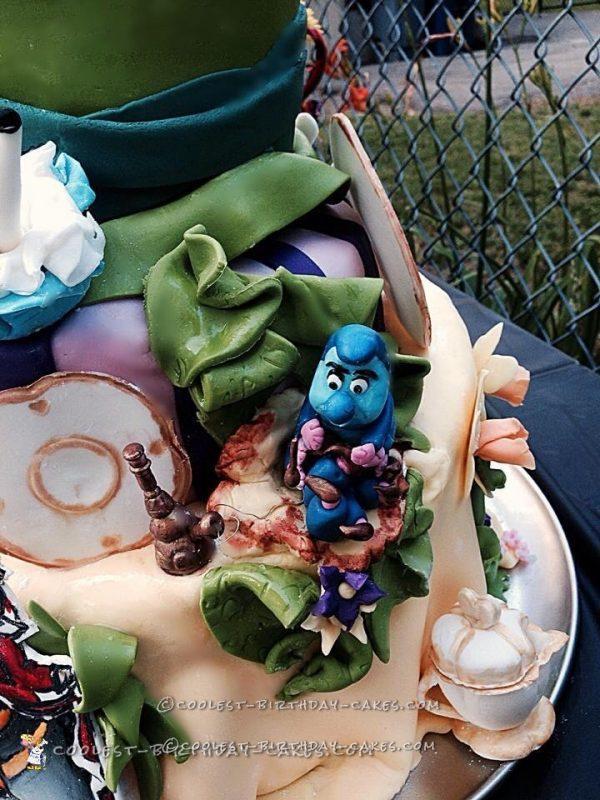Coolest Alice in Wonderland Baby Shower Cake