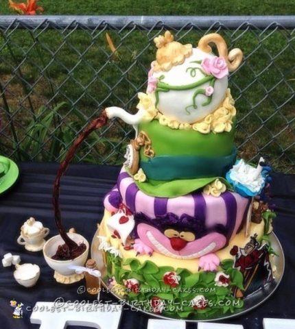 Coolest Alice in Wonderland Baby Shower Cake