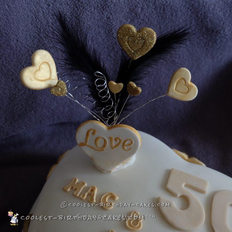 Coolest 50th Wedding Anniversary Cake