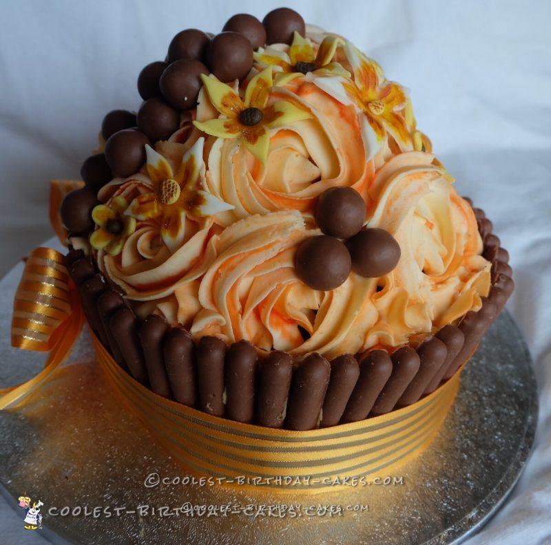 Classy Giant Cupcake Cake