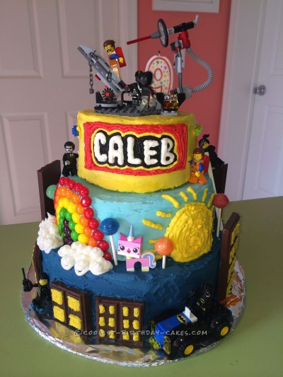 Coolest LEGO Movie Cake