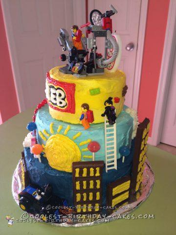 Remarkable Coolest Lego Movie Cake Birthday Cards Printable Trancafe Filternl