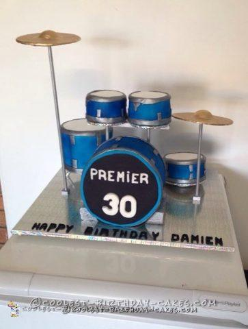 Cool Drum Kit Cake For A Fanatic