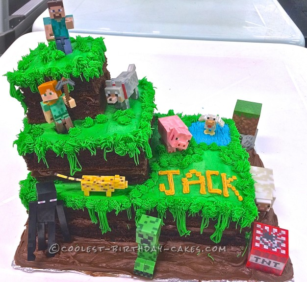 Cool 30 Coolest Homemade Minecraft Cakes For Birthday Parties Funny Birthday Cards Online Elaedamsfinfo
