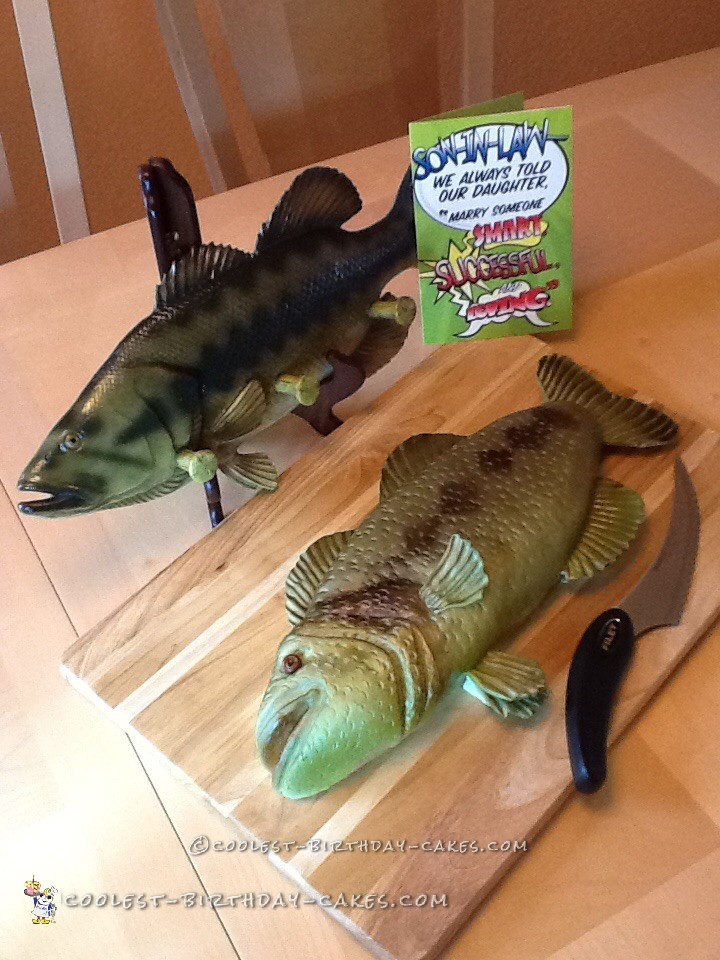 Coolest fish shaped cake for Fish shaped cake