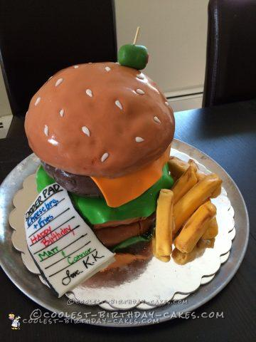 Coolest Hamburger Birthday Cake