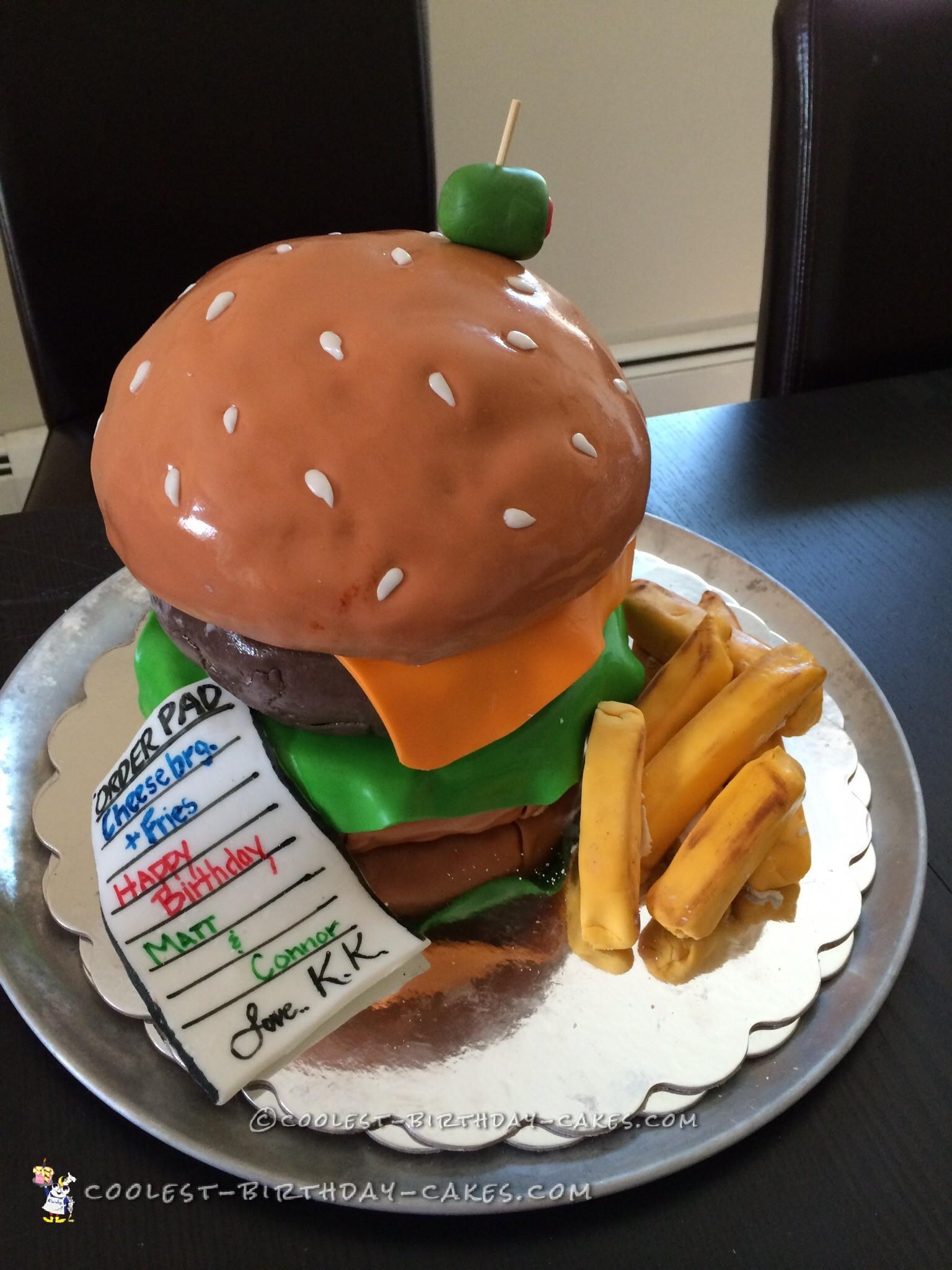 Coolest Hamburger Birthday Cake