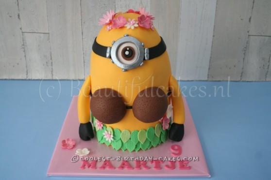 Hawaiian Minion Birthday Cake