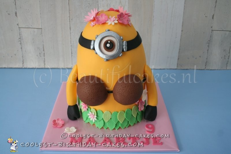Hawaiian Minion Birthday Cake