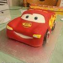 Coolest Homemade Lightening McQueen Birthday Cake