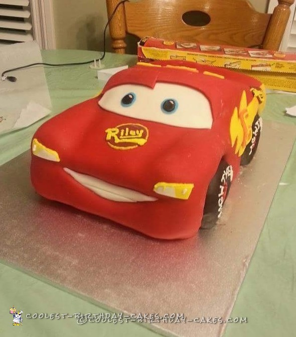 Coolest Homemade Lightening McQueen Birthday Cake