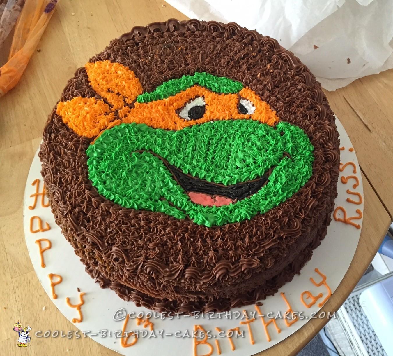 Coolest Ninja Turtle Face Cake