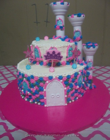 Cool Princess Castle Birthday Cake