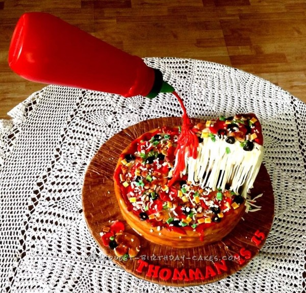 Ultimate Cheese Pizza Anti Gravity  Cake