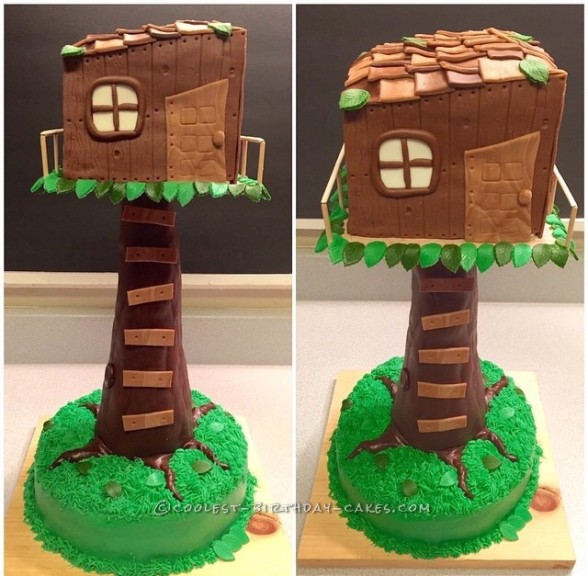 Cool Tree House Cake for the Kid in All of Us