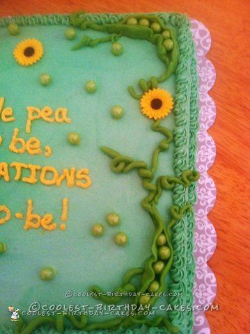 Cute Sweet Pea Baby Shower Cake