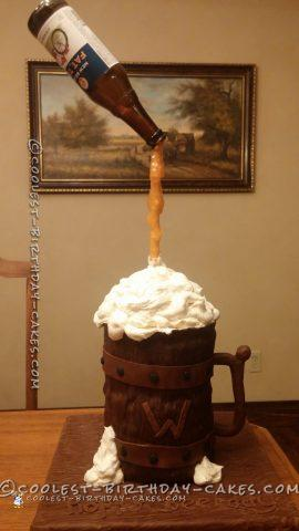 Coolest Anti-Gravity Beer Cake