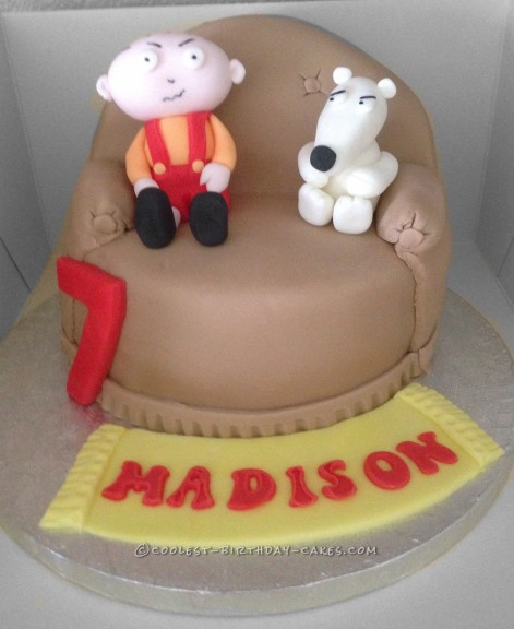 Superb Coolest Homemade Family Guy Cakes Personalised Birthday Cards Paralily Jamesorg