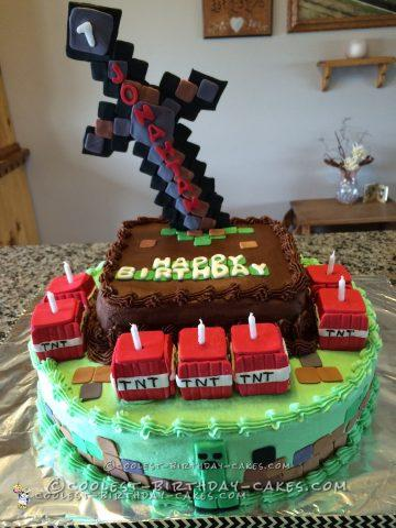 Crazy for Minecraft Cake