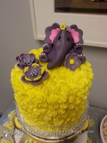 Elephant Themed Baby Shower Cake