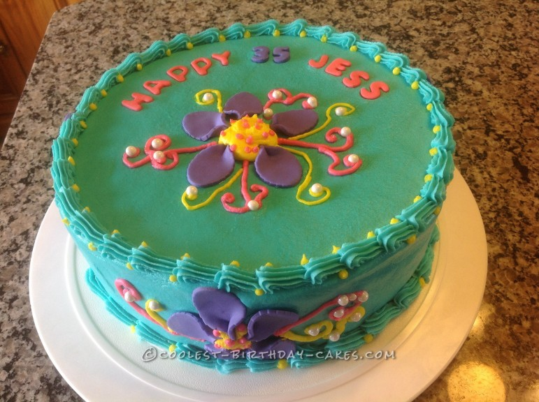 Quick and Bright Flower Cake