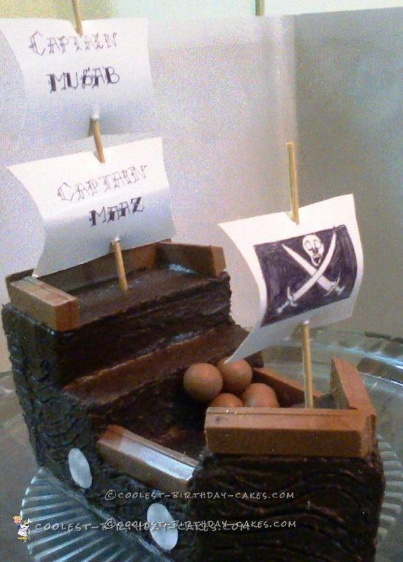 First Attempt Pirate Ship Cake