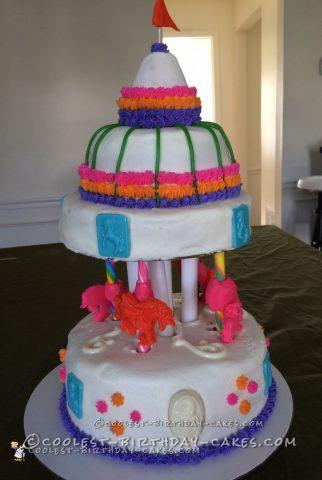 Coolest Unicorn Carousel Cake