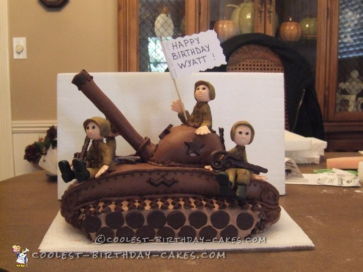 Prime 190 Coolest Homemade Military Theme Cakes Personalised Birthday Cards Rectzonderlifede