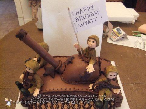 Coolest Army Tank Cake