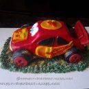 3D Cars 4th Birthday Cake