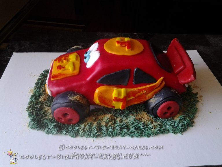 3D Cars 4th Birthday Cake