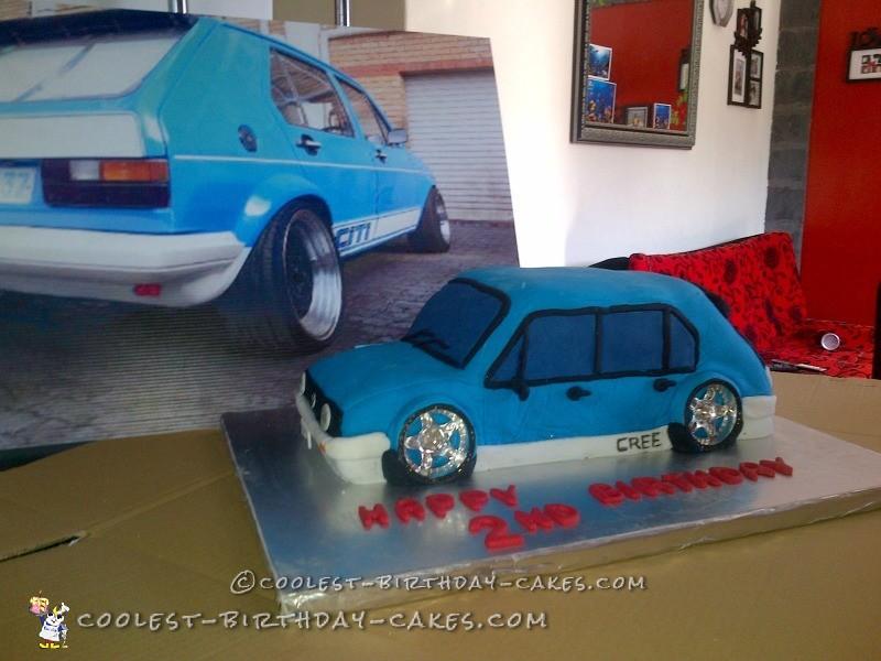 Coolest 2nd Birthday Car Cake