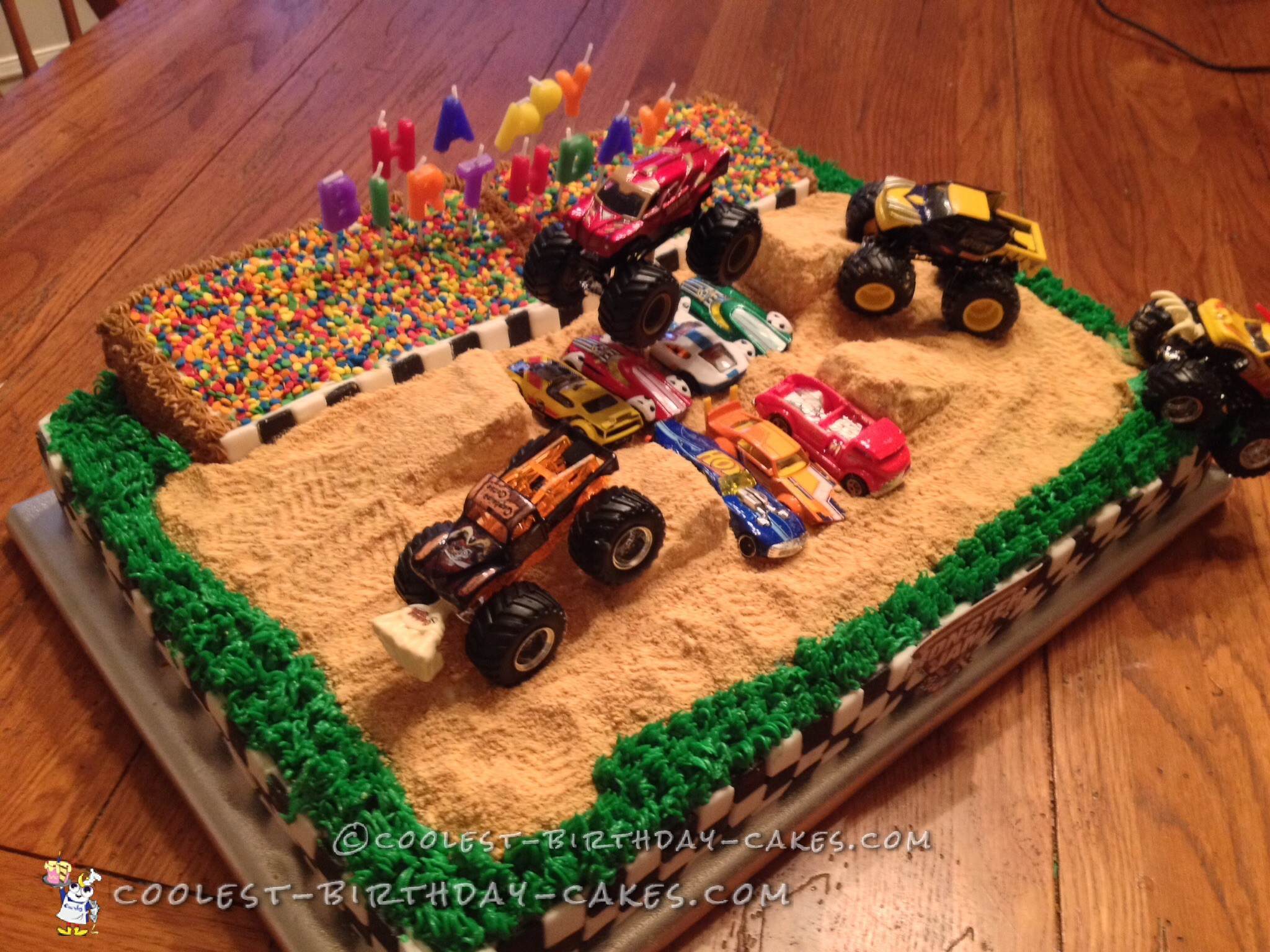 Cool Homemade Monster Jam Birthday Cake