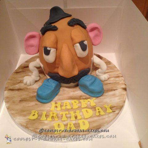 Coolest Mr. Potato Head Cake for Dad