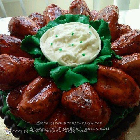 Coolest Prank Hot Chicken Wings Cake