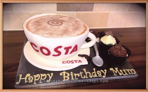 Costa Coffee Cup Cake