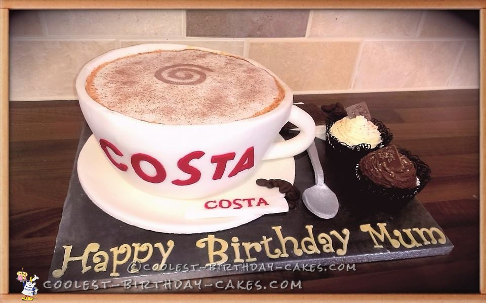 Costa Coffee Cup Cake