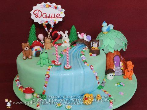 Coolest Enchanted Forest Birthday Cake
