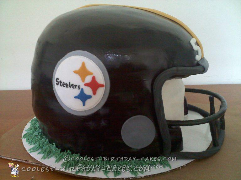 Coolest Football Helmet Cake