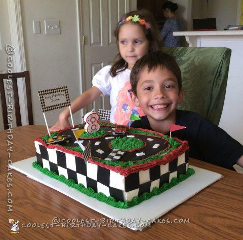 Coolest Race Car Track Birthday Cake