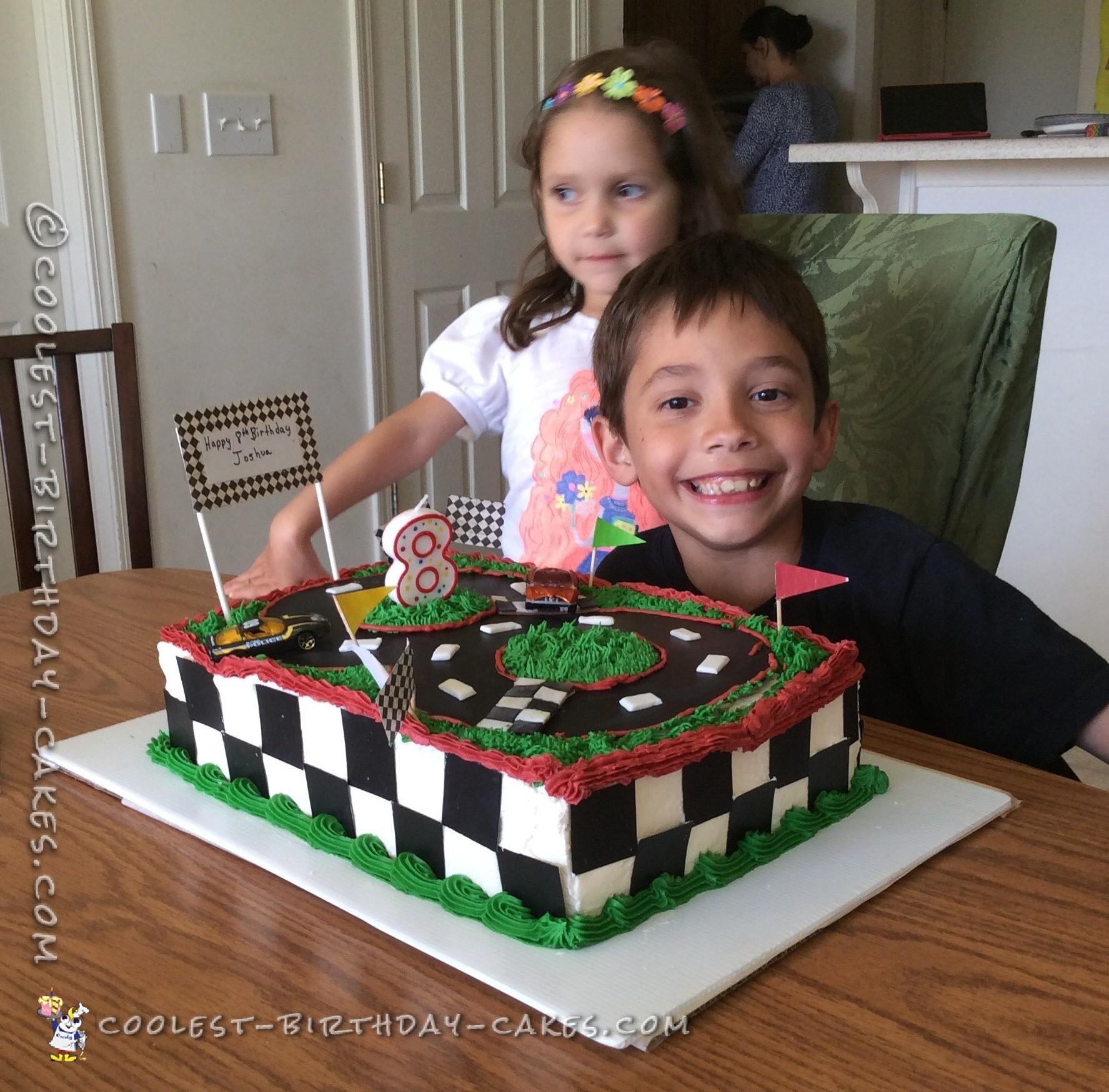 Coolest Race Car Track Birthday Cake